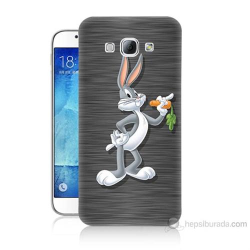 Teknomeg Samsung Galaxy A8 Kapak Kılıf Bugs Bunny Baskılı Silikon