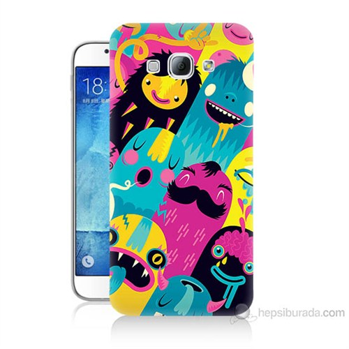 Teknomeg Samsung Galaxy A8 Kapak Kılıf Sevimli Karakterler Baskılı Silikon