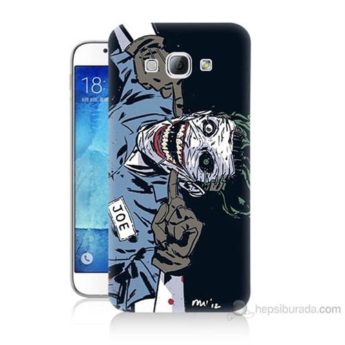 Teknomeg Samsung Galaxy A8 Kapak Kılıf Joe Joker Baskılı Silikon
