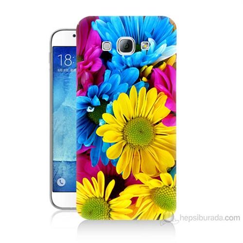 Teknomeg Samsung Galaxy A8 Kapak Kılıf Kasımpatı Baskılı Silikon