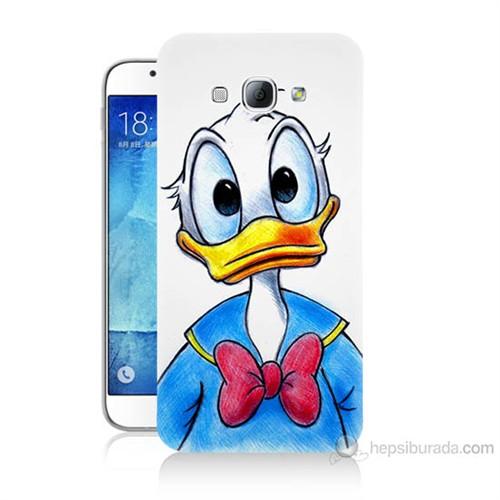 Teknomeg Samsung Galaxy A8 Kapak Kılıf Donald Duck Baskılı Silikon