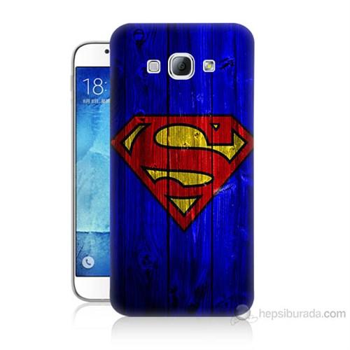 Teknomeg Samsung Galaxy A8 Kapak Kılıf Superman Baskılı Silikon