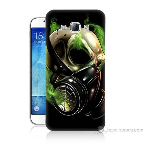 Teknomeg Samsung Galaxy A8 Kapak Kılıf Ölüm Maskesi Baskılı Silikon
