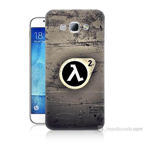 Teknomeg Samsung Galaxy A8 Kapak Kılıf Half Life Baskılı Silikon