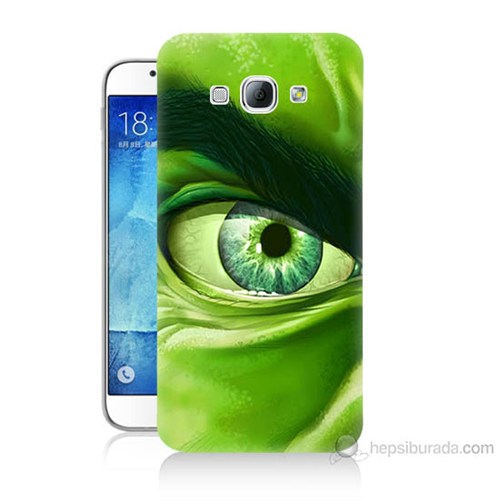 Teknomeg Samsung Galaxy A8 Kapak Kılıf Hulk Yeşil Dev Baskılı Silikon