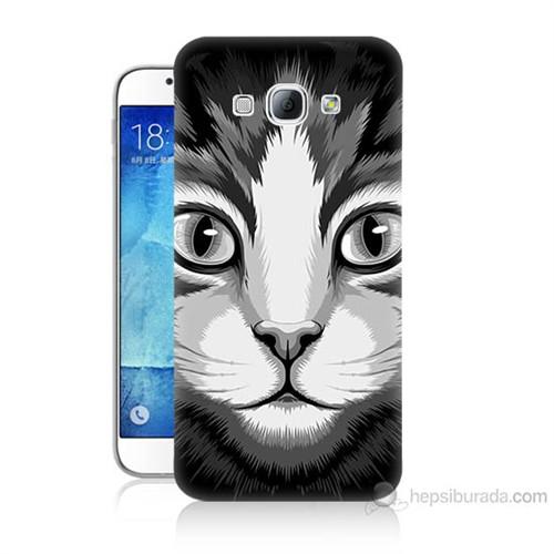 Teknomeg Samsung Galaxy A8 Kapak Kılıf Kedicik Baskılı Silikon