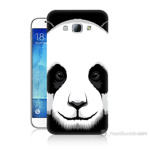 Teknomeg Samsung Galaxy A8 Kapak Kılıf Panda Baskılı Silikon