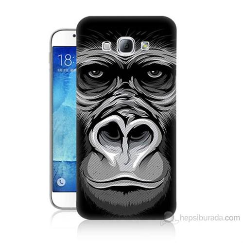 Teknomeg Samsung Galaxy A8 Kapak Kılıf Goril Baskılı Silikon