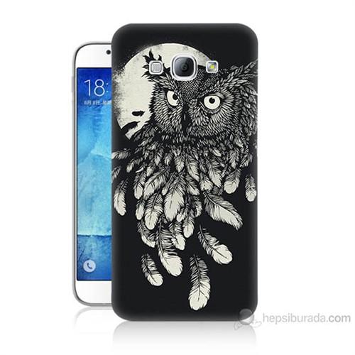 Teknomeg Samsung Galaxy A8 Kapak Kılıf Gece Kuşu Baskılı Silikon