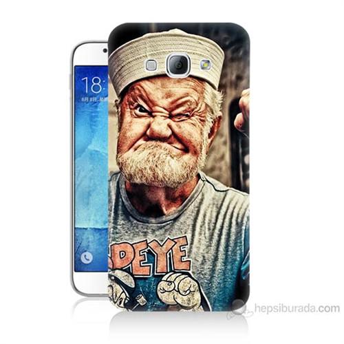 Teknomeg Samsung Galaxy A8 Kapak Kılıf Temel Reis Baskılı Silikon