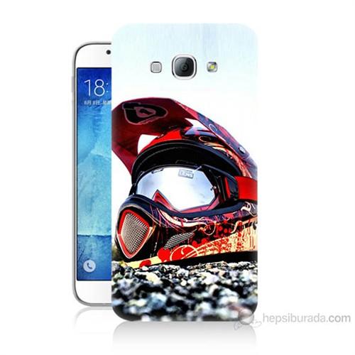 Teknomeg Samsung Galaxy A8 Kapak Kılıf Kask Baskılı Silikon