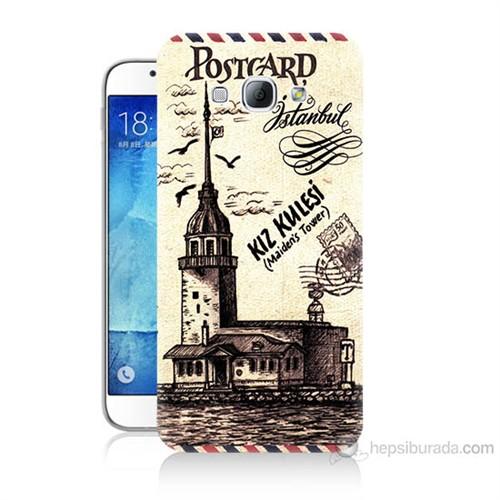 Teknomeg Samsung Galaxy A8 Kapak Kılıf Kız Kulesi Baskılı Silikon