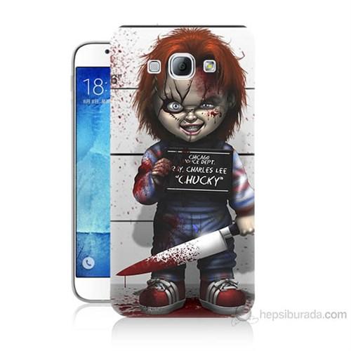 Teknomeg Samsung Galaxy A8 Kapak Kılıf Chaki Baskılı Silikon