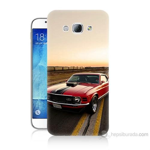 Teknomeg Samsung Galaxy A8 Kapak Kılıf Araba Baskılı Silikon