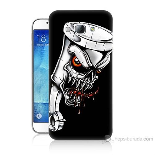 Teknomeg Samsung Galaxy A8 Kapak Kılıf Piston Baskılı Silikon
