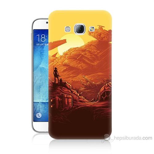 Teknomeg Samsung Galaxy A8 Kapak Kılıf Star Wars 7 Baskılı Silikon