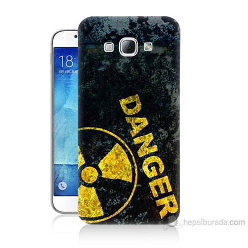 Teknomeg Samsung Galaxy A8 Kapak Kılıf Tehlikeli Baskılı Silikon