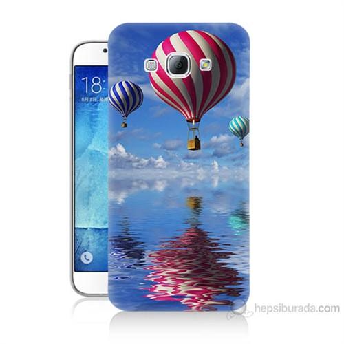 Teknomeg Samsung Galaxy A8 Kapak Kılıf Renkli Balonlar Baskılı Silikon