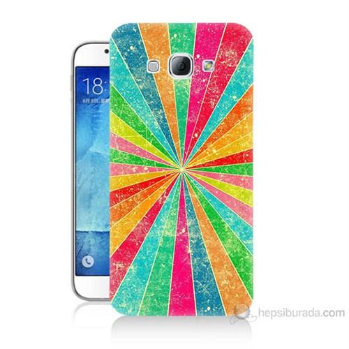 Teknomeg Samsung Galaxy A8 Kapak Kılıf Renk Efekti Baskılı Silikon