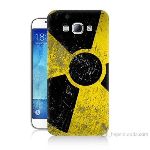 Teknomeg Samsung Galaxy A8 Kapak Kılıf Radyasyon Baskılı Silikon