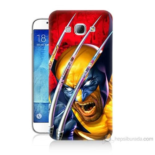 Teknomeg Samsung Galaxy A8 Kapak Kılıf Wolverin Baskılı Silikon