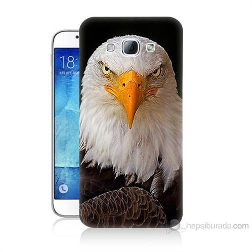 Teknomeg Samsung Galaxy A8 Kapak Kılıf Kartal Baskılı Silikon