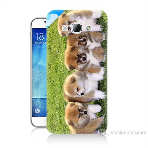 Teknomeg Samsung Galaxy A8 Kapak Kılıf Sevimli Köpek Baskılı Silikon