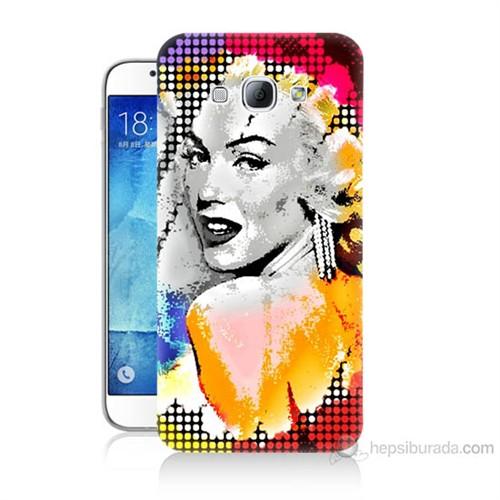 Teknomeg Samsung Galaxy A8 Kapak Kılıf Marilyn Monroe Baskılı Silikon