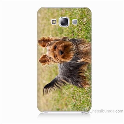 Teknomeg Samsung Galaxy E5 Kapak Kılıf Terier Baskılı Silikon