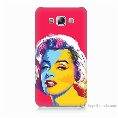 Teknomeg Samsung Galaxy E5 Kapak Kılıf Pop-Art Resim Baskılı Silikon