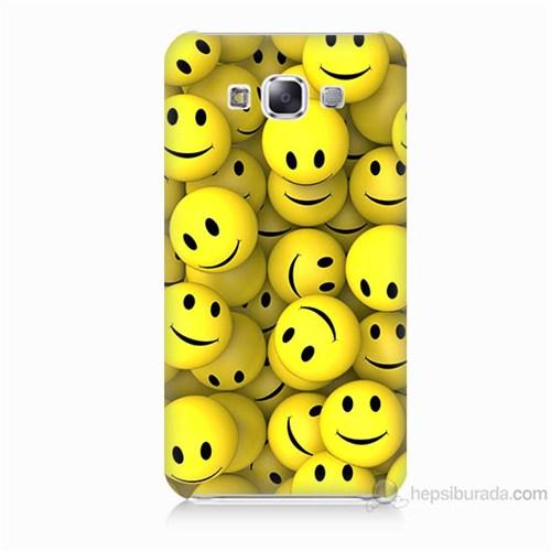 Teknomeg Samsung Galaxy E5 Kapak Kılıf Smile Baskılı Silikon