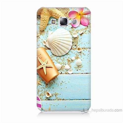 Teknomeg Samsung Galaxy E5 Kapak Kılıf Deniz Kabuğu Baskılı Silikon