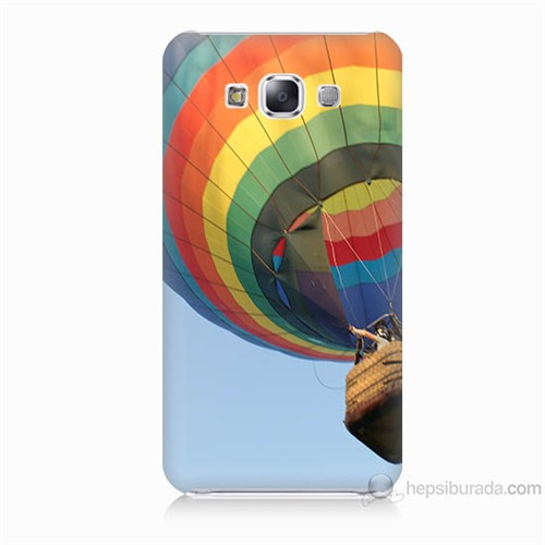Teknomeg Samsung Galaxy E5 Kapak Kılıf Uçan Balon Baskılı Silikon