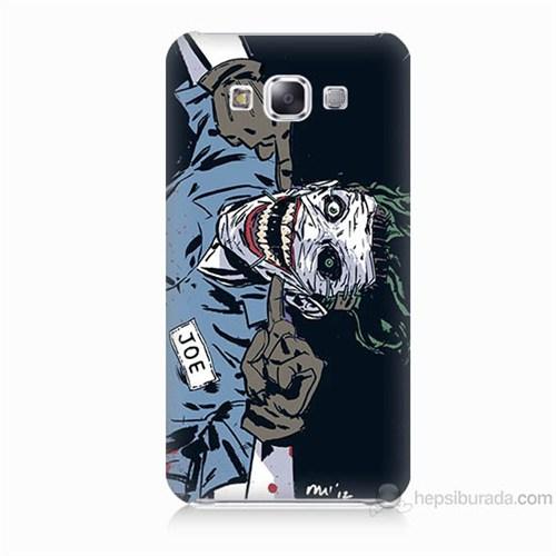 Teknomeg Samsung Galaxy E5 Kapak Kılıf Joe Joker Baskılı Silikon