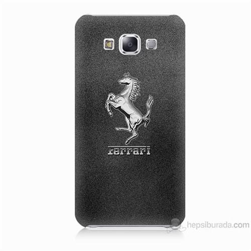 Teknomeg Samsung Galaxy E5 Kapak Kılıf Ferrari Baskılı Silikon