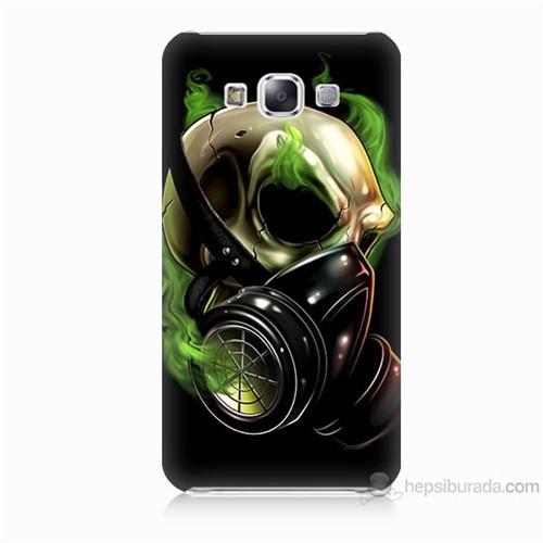 Teknomeg Samsung Galaxy E5 Kapak Kılıf Ölüm Maskesi Baskılı Silikon
