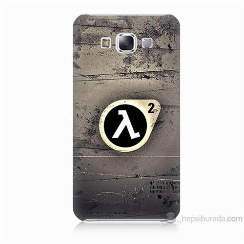 Teknomeg Samsung Galaxy E5 Kapak Kılıf Half Life Baskılı Silikon