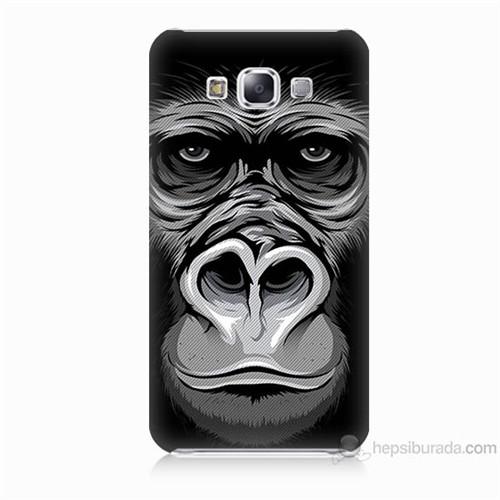 Teknomeg Samsung Galaxy E5 Kapak Kılıf Goril Baskılı Silikon