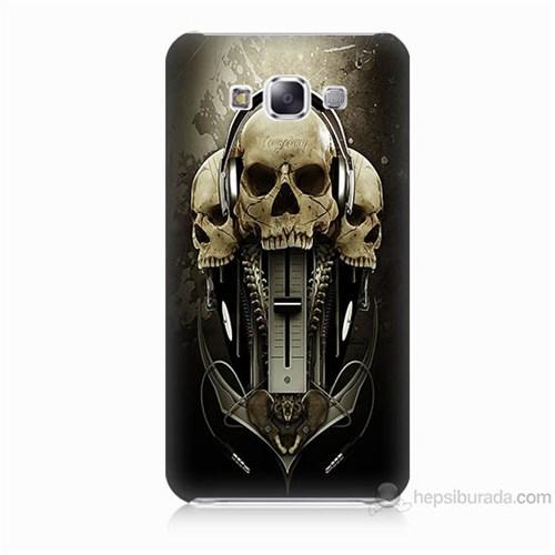 Teknomeg Samsung Galaxy E5 Kapak Kılıf İskeletler Baskılı Silikon