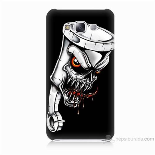 Teknomeg Samsung Galaxy E5 Kapak Kılıf Piston Baskılı Silikon
