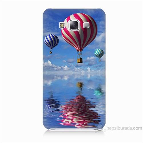 Teknomeg Samsung Galaxy E5 Kapak Kılıf Renkli Balonlar Baskılı Silikon