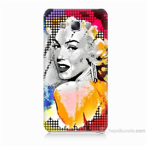 Teknomeg Samsung Galaxy E5 Kapak Kılıf Marilyn Monroe Baskılı Silikon