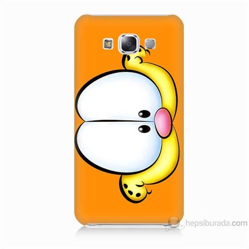 Teknomeg Samsung Galaxy E7 Kapak Kılıf Garfield Baskılı Silikon