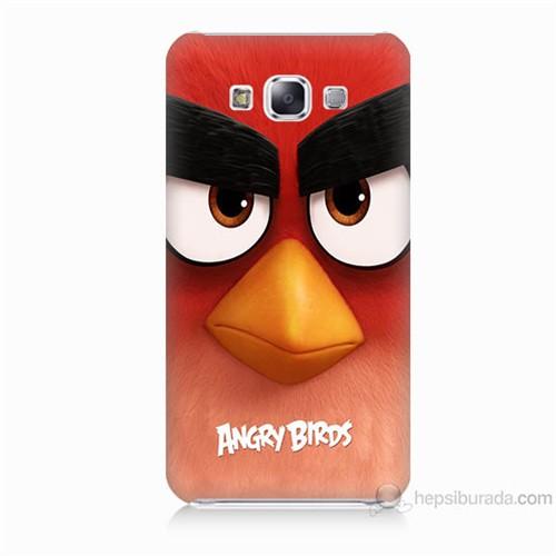 Teknomeg Samsung Galaxy E7 Kapak Kılıf Angry Birds Baskılı Silikon