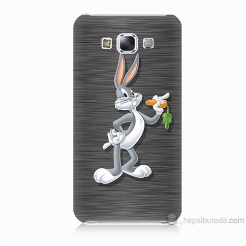 Teknomeg Samsung Galaxy E7 Kapak Kılıf Bugs Bunny Baskılı Silikon