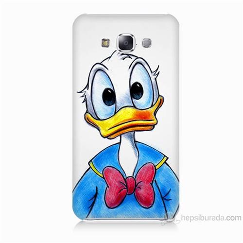 Teknomeg Samsung Galaxy E7 Kapak Kılıf Donald Duck Baskılı Silikon