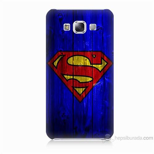 Teknomeg Samsung Galaxy E7 Kapak Kılıf Superman Baskılı Silikon