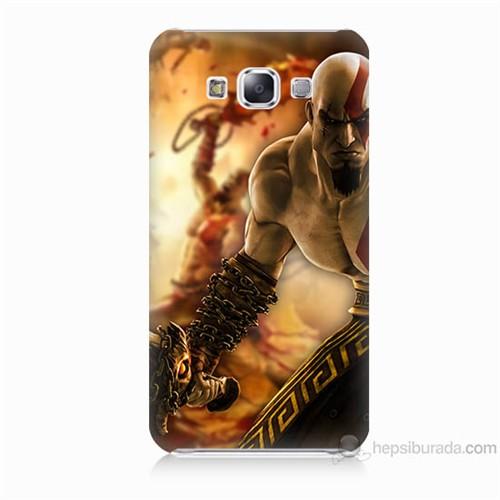 Teknomeg Samsung Galaxy E7 Kapak Kılıf God Of War Baskılı Silikon