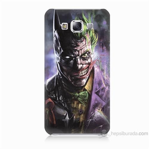 Teknomeg Samsung Galaxy E7 Kapak Kılıf Joker Vs Batman Baskılı Silikon