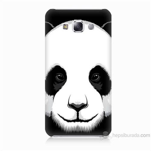 Teknomeg Samsung Galaxy E7 Kapak Kılıf Panda Baskılı Silikon